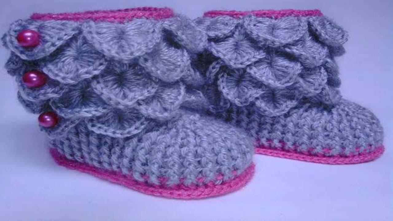 Zapatos De Bebe Tejidos A Crochetzapatitos Tejidos Para Bebe