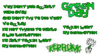 Green Day - My Generation (Lyrics)
