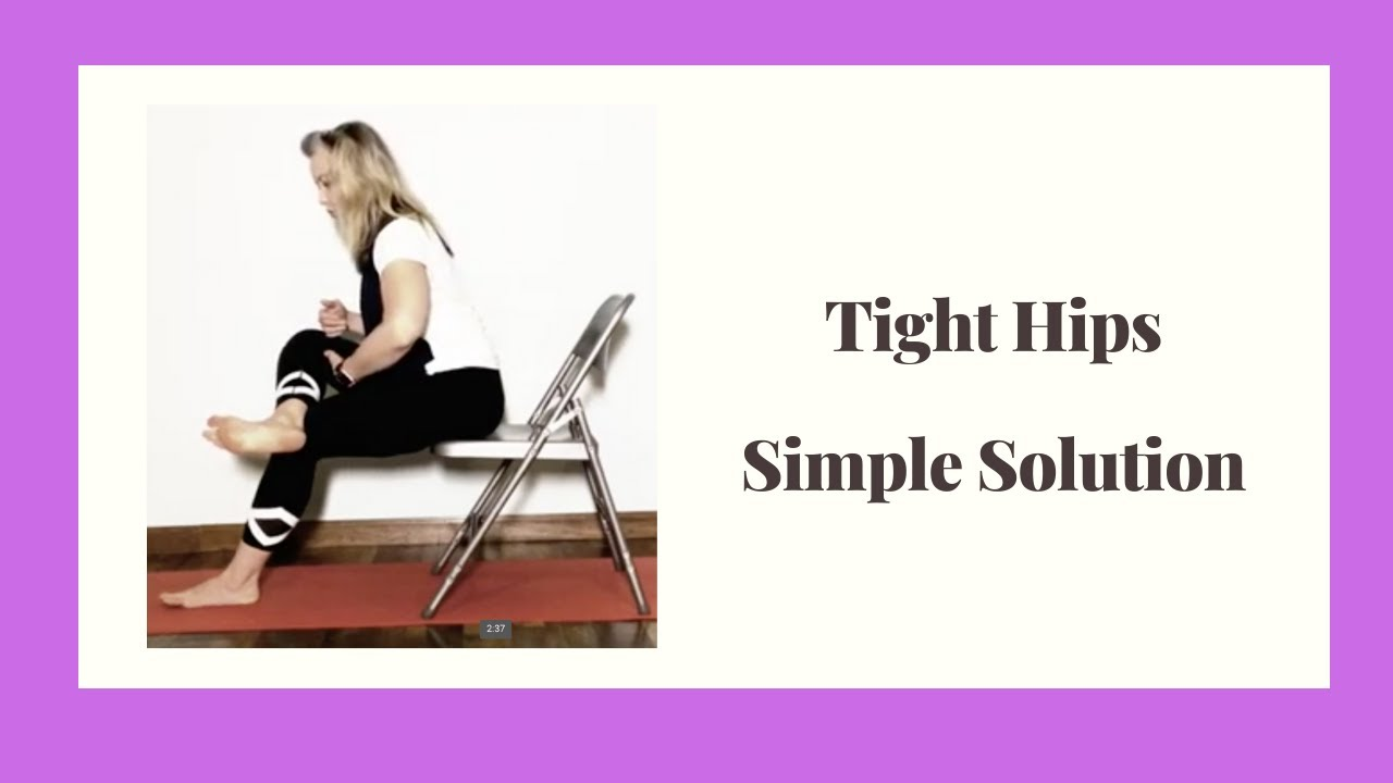 Two Simple Solutions For Releasing Tight Hips At Your Desk