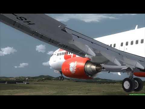 Landing At Seoul THAI LION AIR 737-900ER ✈✈ FSX