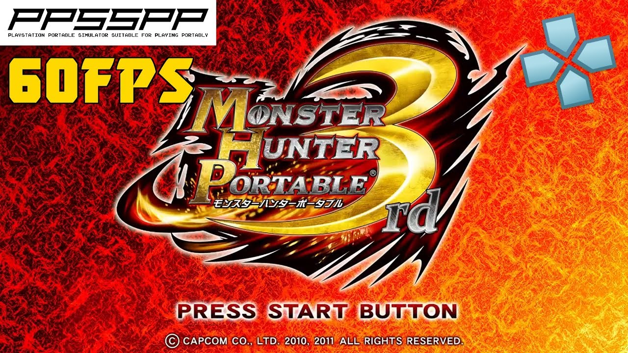 Monster Hunter Portable 3rd HD [60FPS Patch] - PSP Gameplay (PPSSPP) 1080p