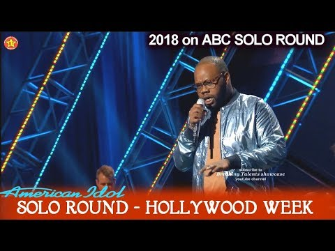"""Thaddeus Johnson Sings Better Version Of Katy's """"Rise""""  Solo Round Hollywood Week American Idol 2018"""
