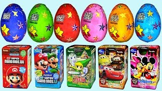 Repeat youtube video 23 Furuta Surprise Eggs Disney Pixar Cars Super Mario Mickey Mouse