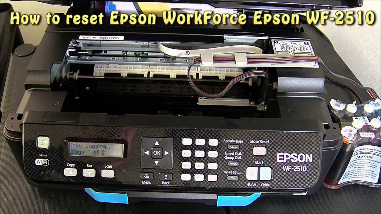 Reset Epson Wf 2510 Waste Ink Pad Counter Youtube