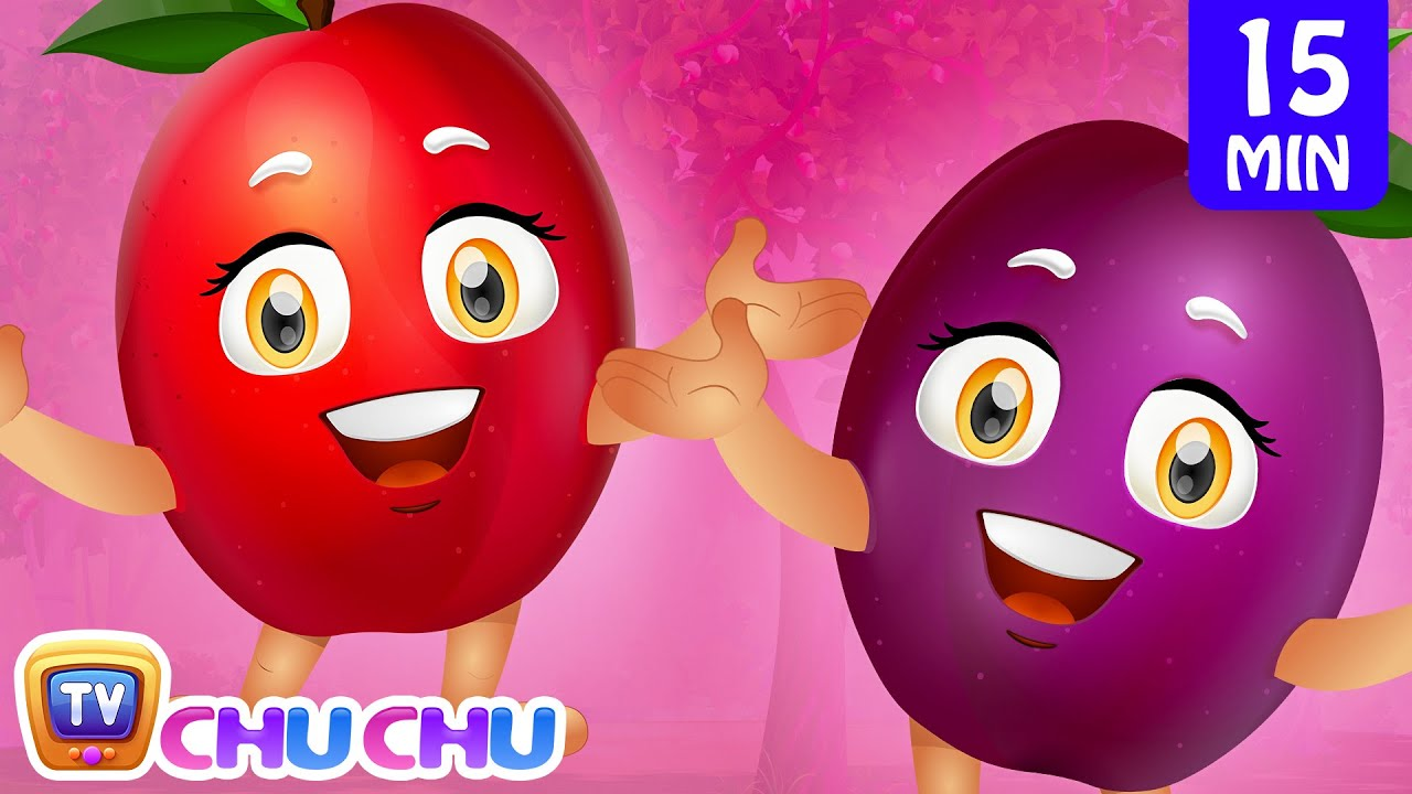 Plum Song | Learn Fruits for Kids | Fruits Songs Collection | ChuChu TV Nursery Rhymes & Kids So