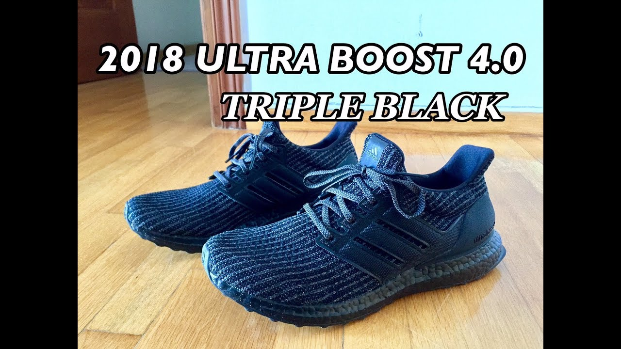 1ed974b01 2018 Adidas Ultraboost 4.0 Triple Black REVIEW   Unboxing - YouTube