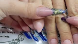 Eng CC Сложная коррекция нарощенных ногтей. Ошибки в наращивании ногтей и как их исправить