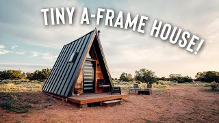 Tiny House A-frame Cabin! Off The Grid Airbnb Full Tour