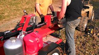 Homemade Log Splitter - First Use