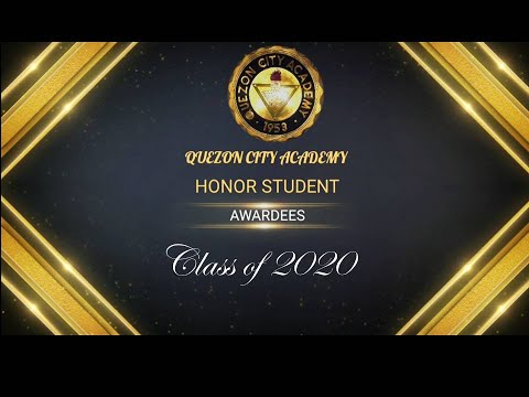 Quezon City Academy Class of 2020 Honor Student Awardees