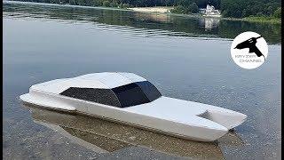 как сделать лодку из пенопласта с моторчиком своими руками