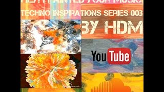 Techno mix live VJ created from abstract paintings best of 2016 music