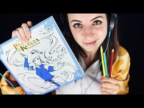 [ASMR] Legend of Korra Coloring Book (Colored Pencils, Close