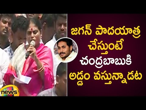 YS Vijayamma Controversial Comments On Chandrababu Naidu Over YS Jagan Padayatra | AP Elections 2019