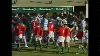 Argentina vs Wales rugby fight 1999