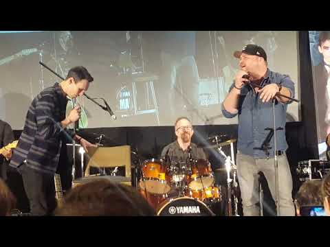 Cory Michael Smith and Drew Powell of Gotham with Man Jam sing Purple Rain