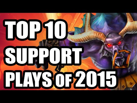 Top 10 Competitive Support Plays + Saves of 2015 compilation! (EU & NA LCS, LCK, CBLOL, MSI, WORLDS)