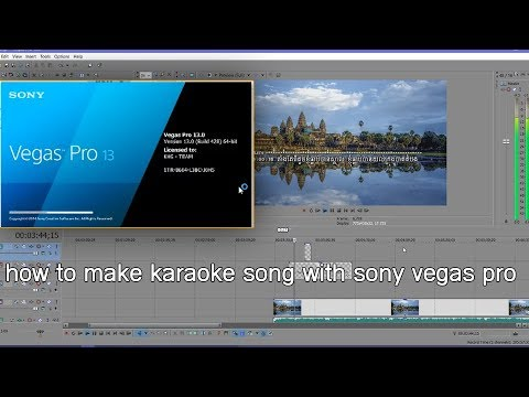 how to make karaoke song with sony vegas pro |with adobe photoshop text |and ow to save videoh