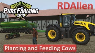 Pure Farming 2018 Free Play on Germany - Planting and Feeding Cows