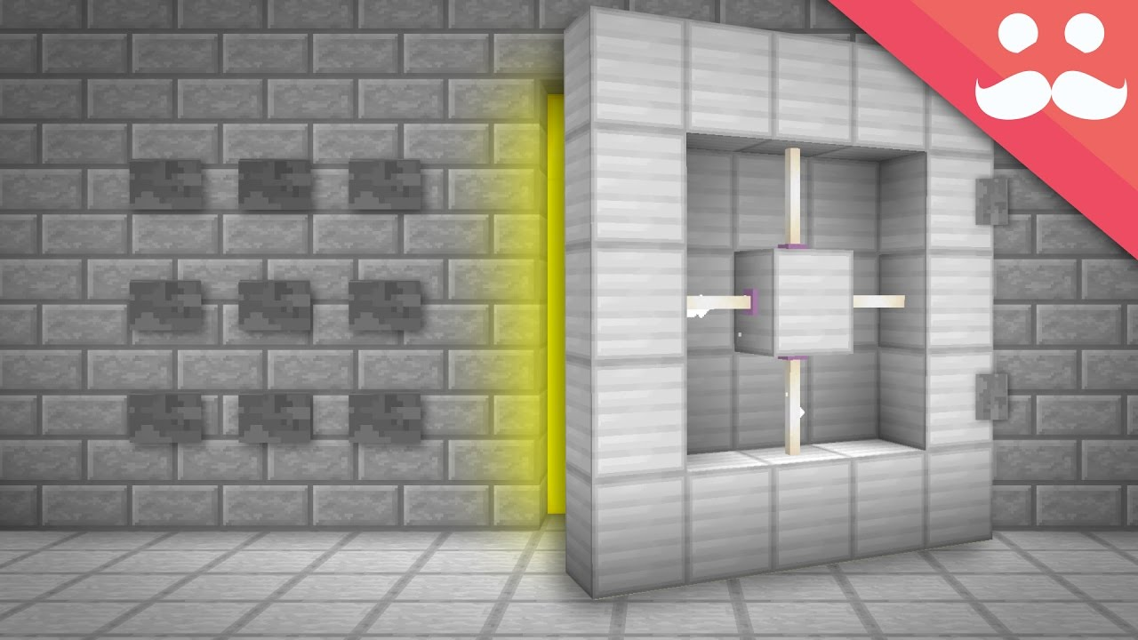 How To Make A Bank Vault In Minecraft!   YouTube