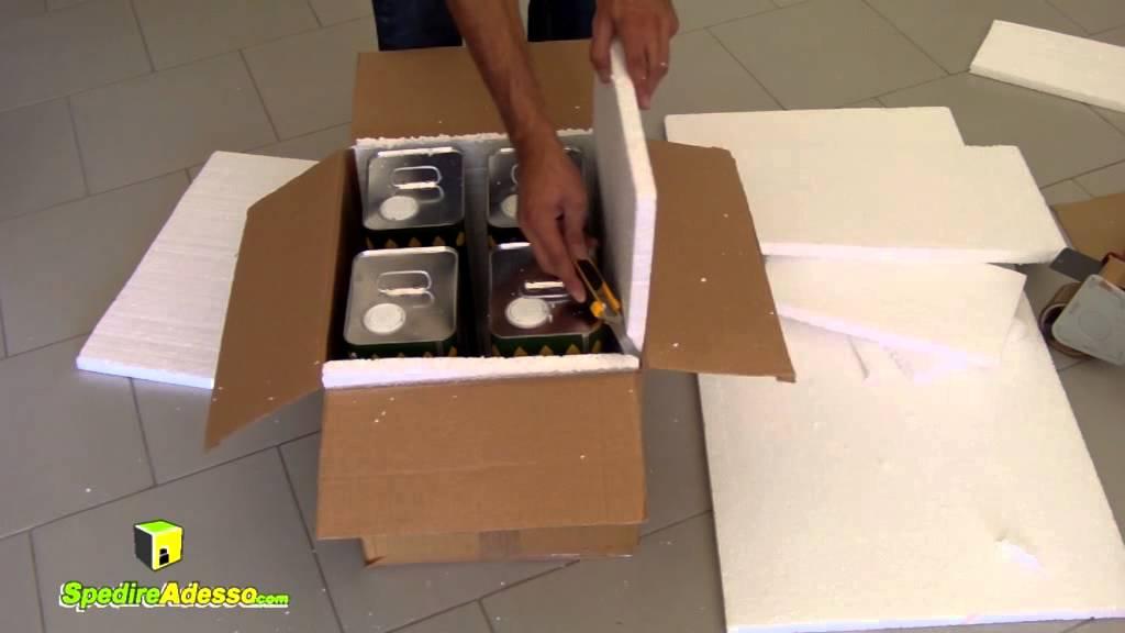 fa054d23da Come imballare un pacco per spedire olio con corriere espresso! - YouTube