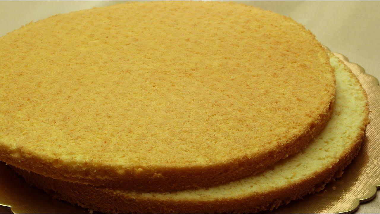 Easy Sponge Cake Recipe Simple Vanilla Cake Youtube