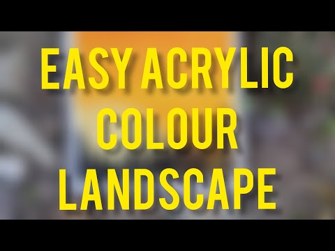Very Easy Landscape for Kids || Acrylic Painting || Easy || For Beginners || Witch Painter