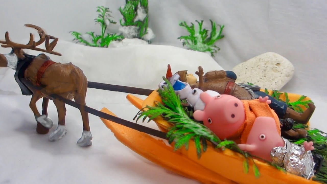 Peppa Stories, part 5: Peppa and Friends take George away from Queen Frozen