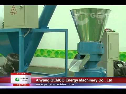 Small feed mill plant for peanut shell, rice husk, and other biomass