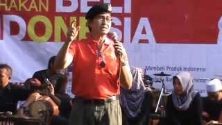 Orasi pong harjatmo  Apel Gerakan Beli Indonesia