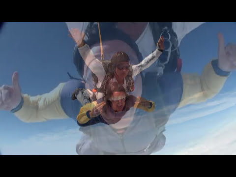 My 1st tandem skydive and Hinton airfield with instructer Glenn morris at 13000ft