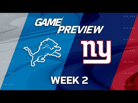 Detroit Lions vs. New York Giants   Week 2 Game Preview   NFL