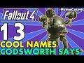 Top 13 Cool, Funny and Weird Names that Codsworth Can Say in Fallout 4 (Recorded Names) #PumaCounts