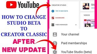 ändern Sie youtube beta hat das studio || Neues Update