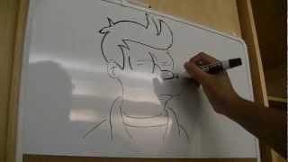 Whiteboard Drawing #1 - Futurama (Fry)