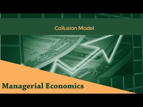 Price-Output Determination in a Cartel | Collusion Model |