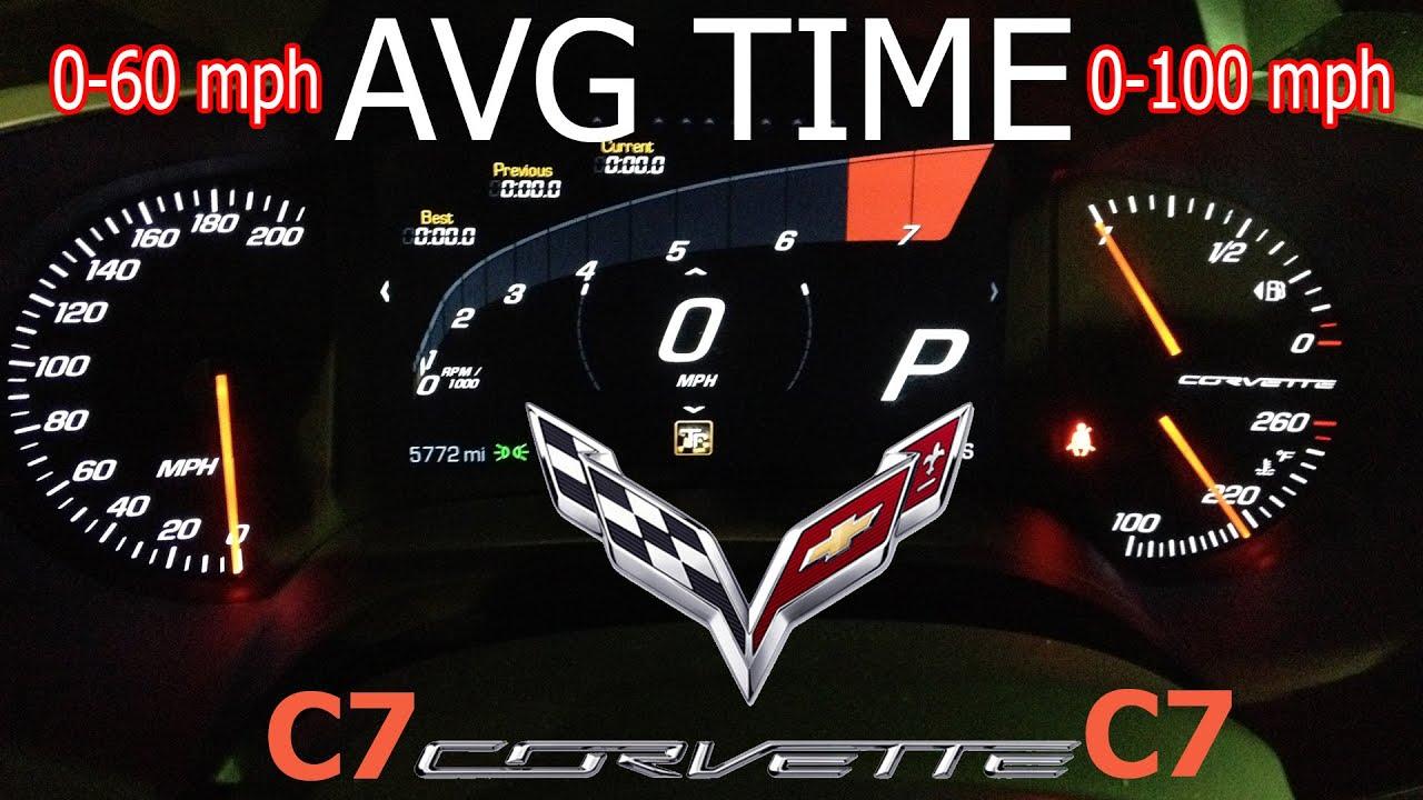 corvette c7 0 60 time stingray 0 100 mph time youtube. Black Bedroom Furniture Sets. Home Design Ideas