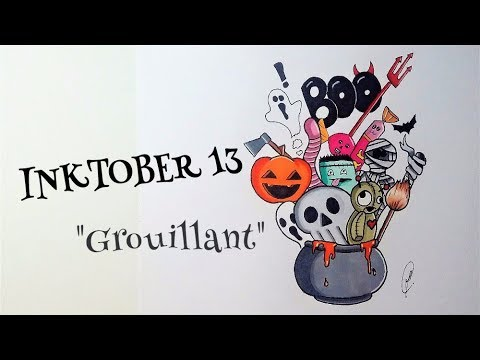 Inktober #13: Drawing Doodle art - Halloween (French)