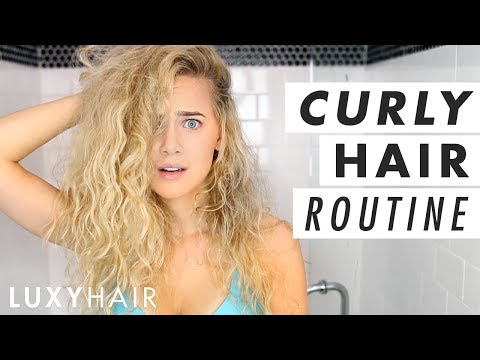 Easy Curly Hair Routine (Wet to Dry!)   Luxy Hair