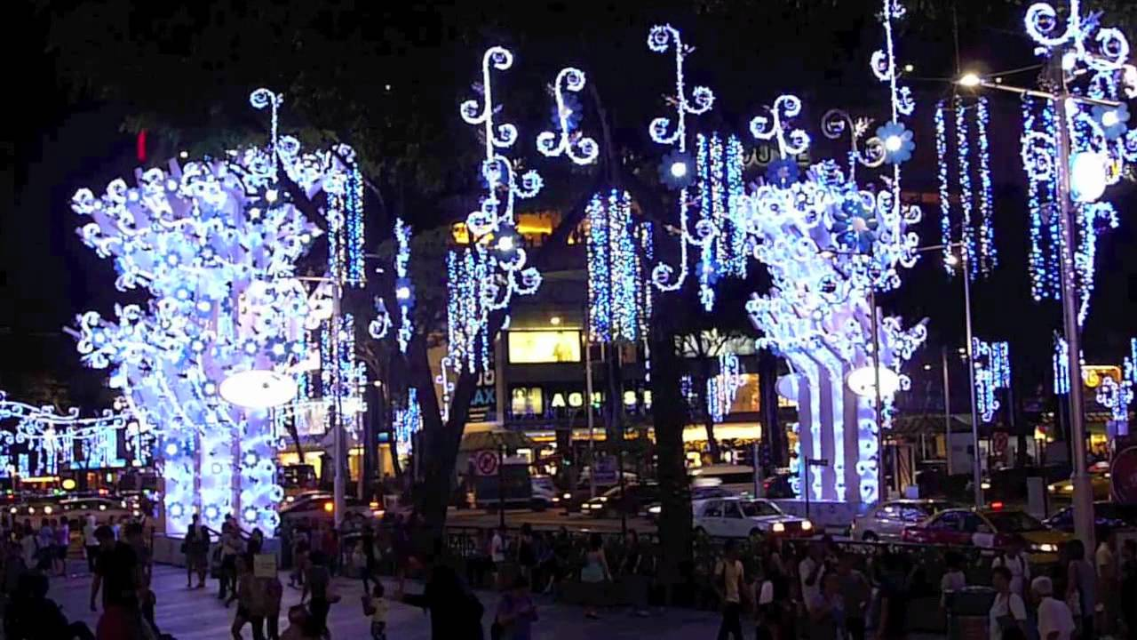 orchard road christmas light up 2011 christmas blooms in singapore youtube