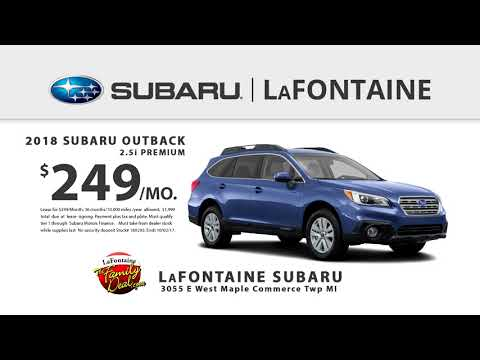 LaFontaine Subaru of Commerce | September 2017 | 2018 Outback