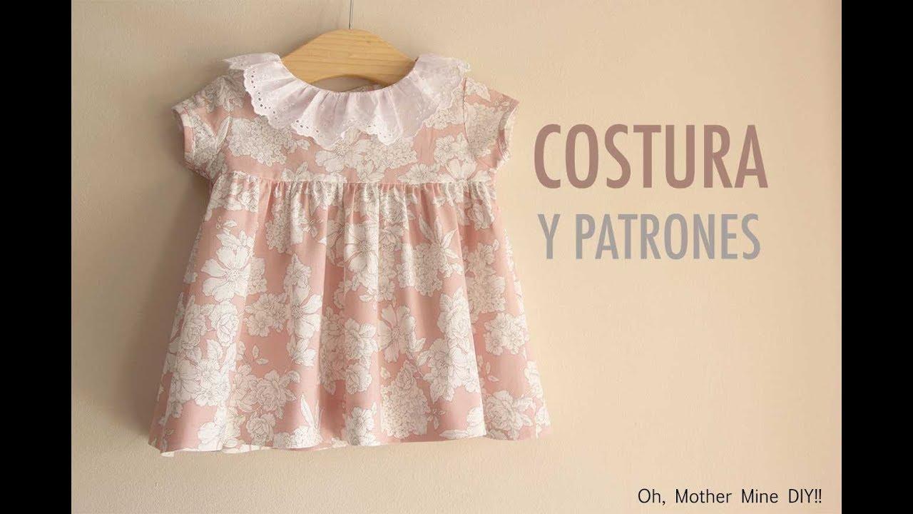 b8e30a728 DIY Costura Vestido de niña (patrones gratis) - YouTube