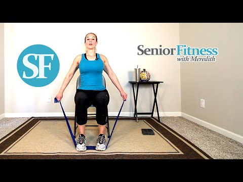Senior Fitness Seated Strength Training Exercises For Seniors Using Resistance Bands