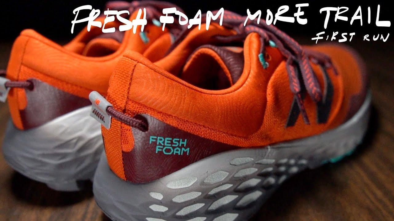 trabajo Cañón operación  New Balance Fresh Foam More Trail - First Run - YouTube