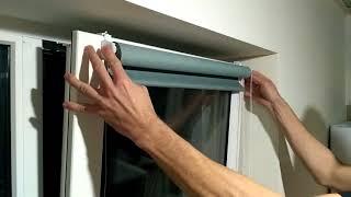 НАЙПРОСТІШИЙ СПОСІБ! (за 4 хв) УСТАНОВКА РУЛОННОЇ ШТОРИ на пластикове вікно без свердління
