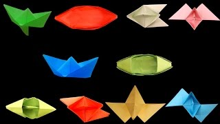 How To Make Paper Boats || Top 10 Paper Boats || Different Types Of DIY Paper Boats