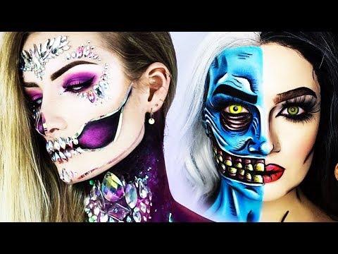 Halloween Makeup MAGIC... 13 INSANE Makeover Tutorials FOR YOU!