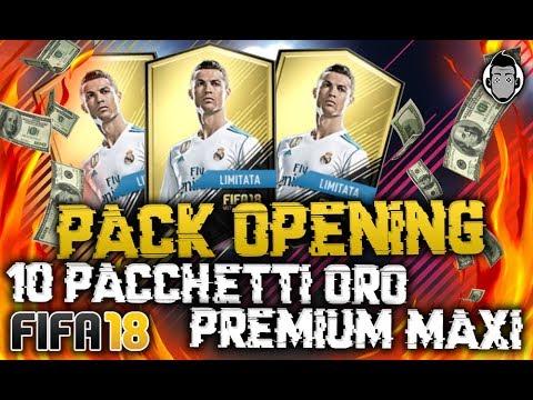 FIFA 18 - PACK OPENING 10 PACCHETTI ORO PREMIUM MAXI!