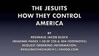 THE JESUITS, HOW THEY CONTROL AMERICA