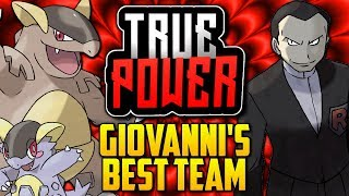 WHAT IS GIOVANNI'S BEST POSSIBLE TEAM!? Giovanni's Evolution In The Pokémon Games [TRUE POWER]